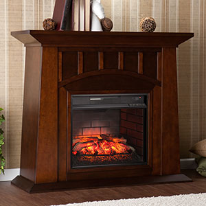 Lowery Infrared Electric Fireplace Mantel Package in Espresso - FI9668