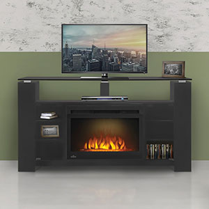 Foley Electric Fireplace Entertainment Center in Black- NEFP27-1015B