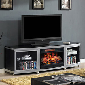 Gotham Infrared Electric Fireplace Media Console in Black - 26MM9313-D974