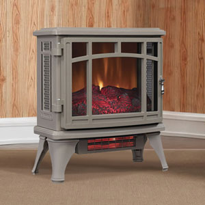 Duraflame 8511 Grey Infrared Electric Fireplace Stove with Remote Control - DFI-8511-05