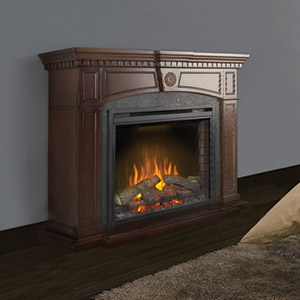 Harlow Electric Fireplace Mantel Package in Mahogany - NEFP33-0114M