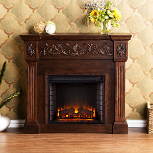 Calvert Electric Fireplace Mantel Package in Espresso - FE9278