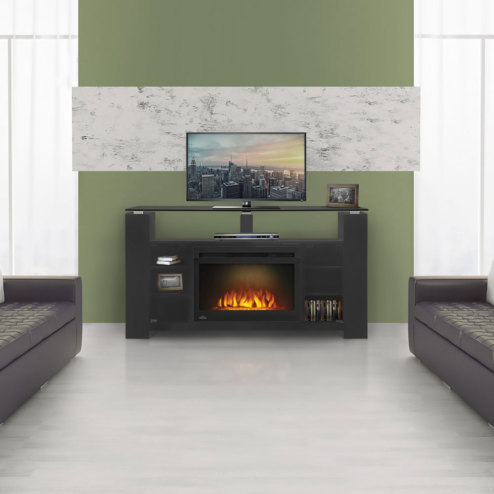 Foley Electric Fireplace Entertainment Center In Black