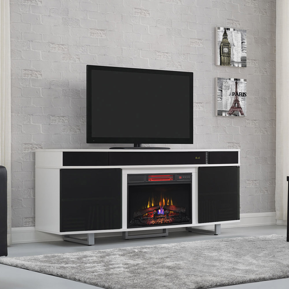 Enterprise Infrared Electric Fireplace Entertainment