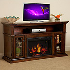 ChimneyFree Wallace Empire Cherry Electric Fireplace Media Console Package 26MM1264EPC