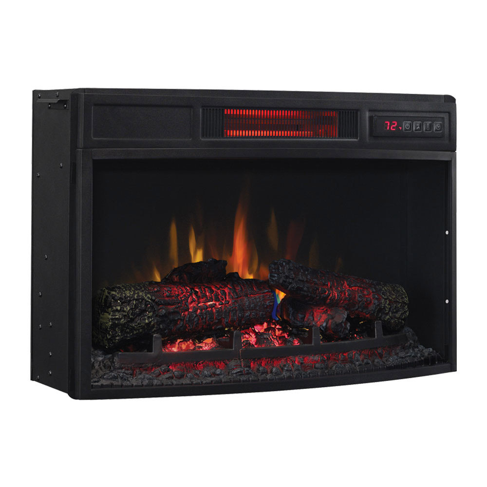 Plug In Electric Fireplace Inserts: ClassicFlame 25-In Infrared SpectraFire Curved Electric