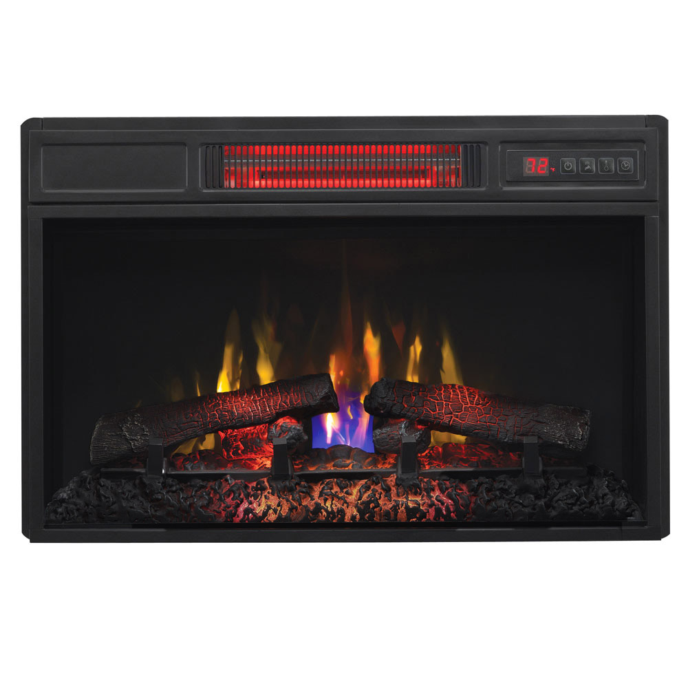 Plug In Electric Fireplace Inserts: ClassicFlame 26-In SpectraFire Infrared Electric Fireplace