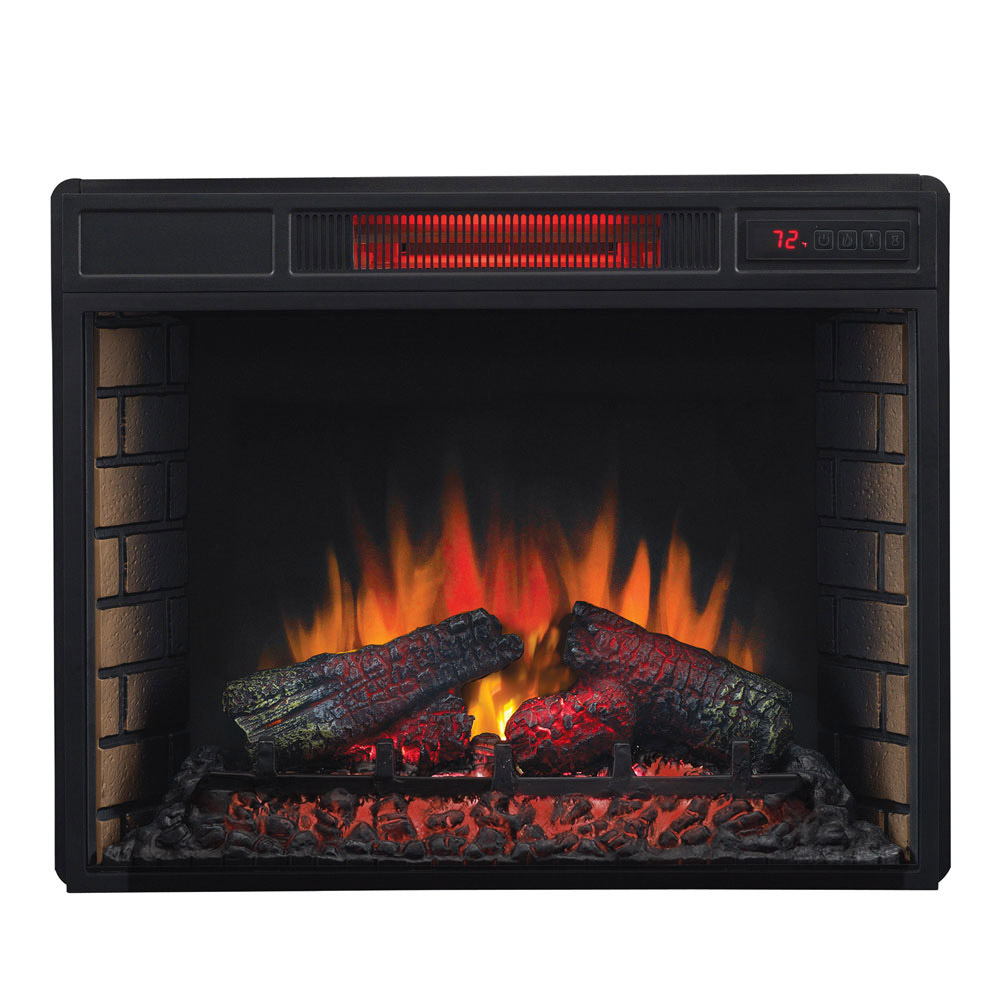 Plug In Electric Fireplace Inserts: ClassicFlame 28-In SpectraFire Infrared Electric Fireplace