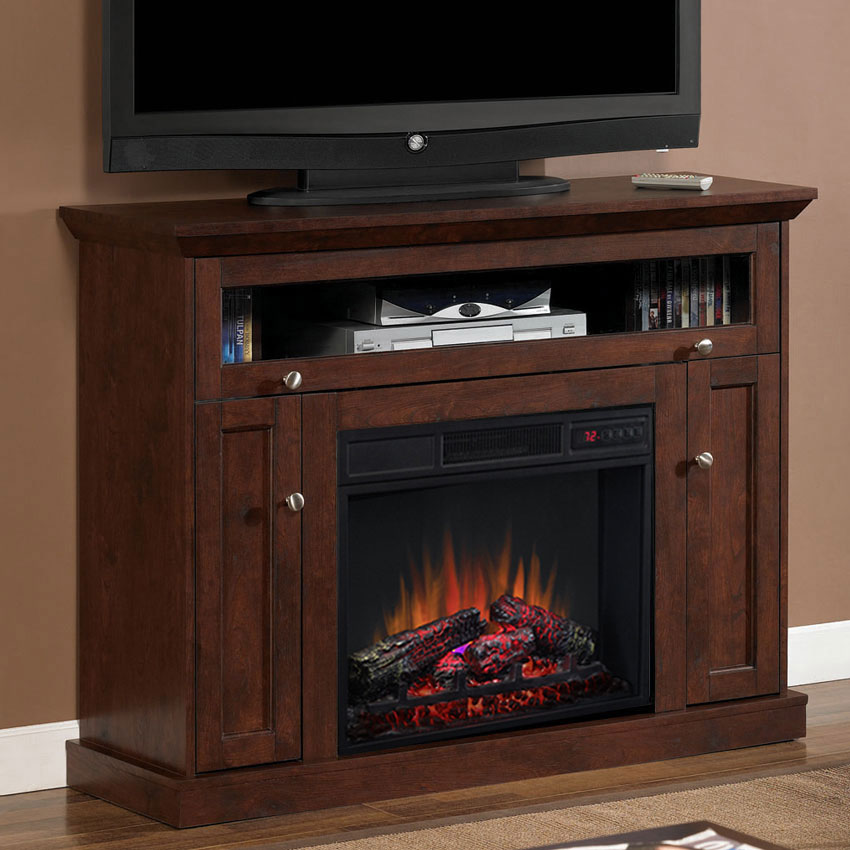 Electric Fireplace with TV, Media Consoles & Entertainment Centers ... : tv console with electric fireplace : Electric Fireplace
