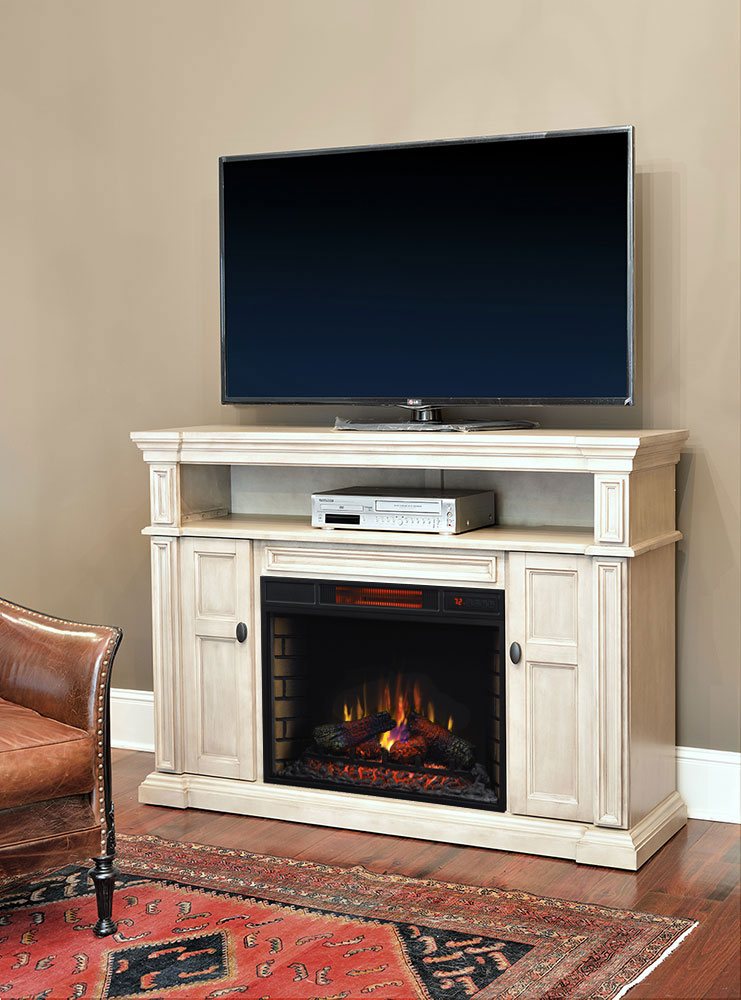 Wyatt Infrared Electric Fireplace Media Console In