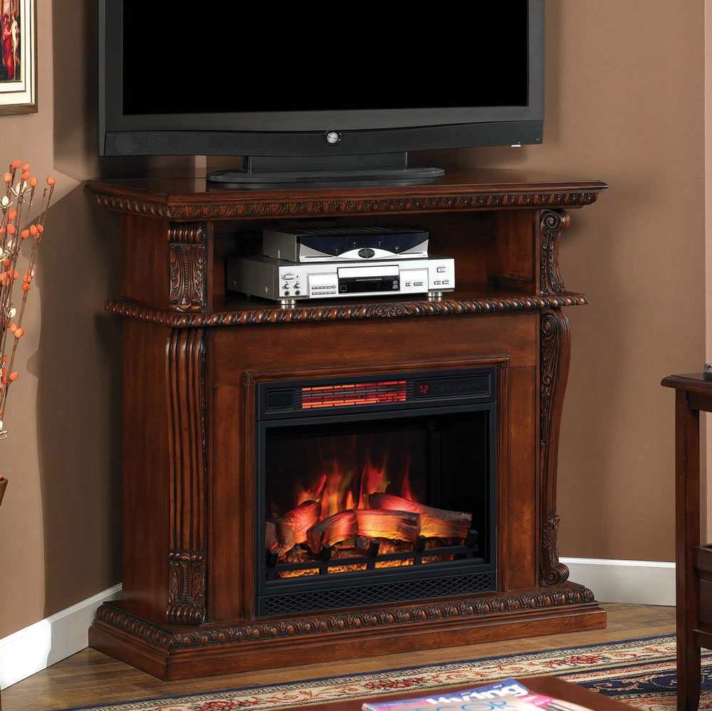 Corinth Infrared Electric Fireplace Media Console in ...