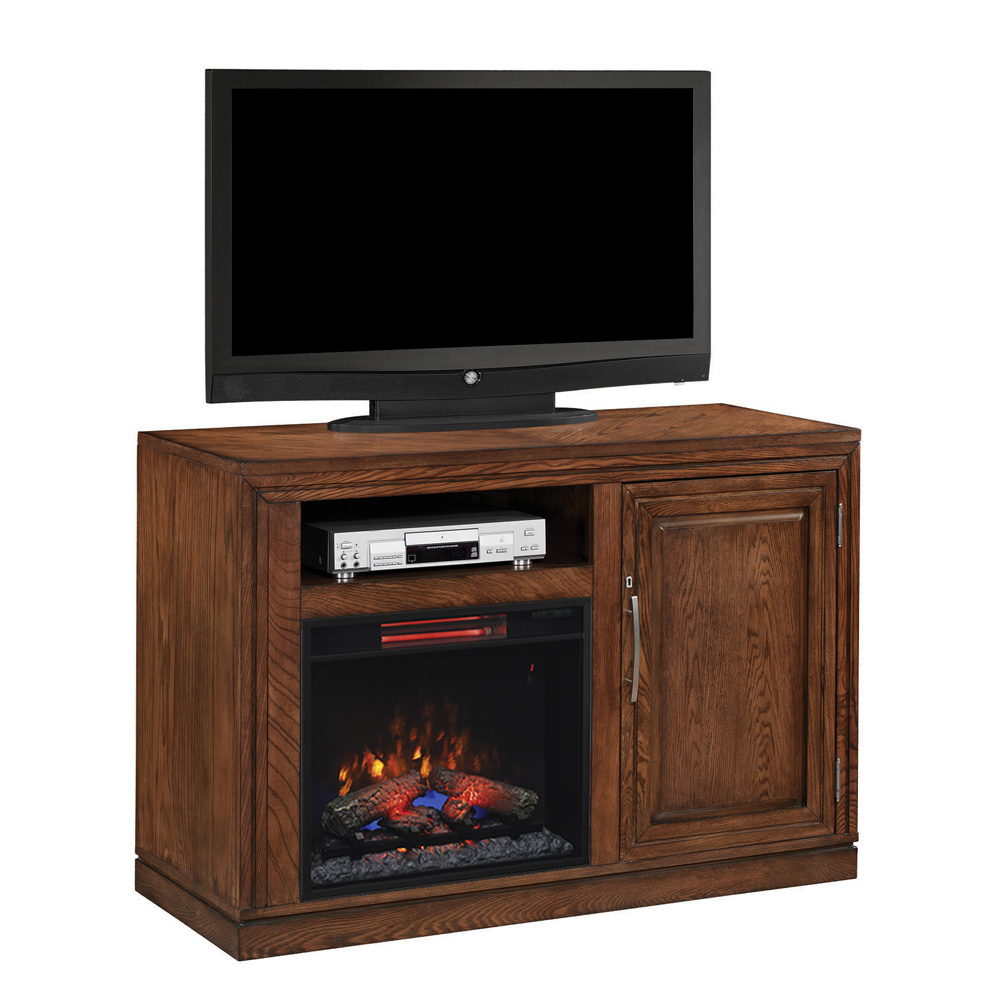 Party Time Infrared Electric Fireplace Media Console In Midnight Oak 23tf2587 O114