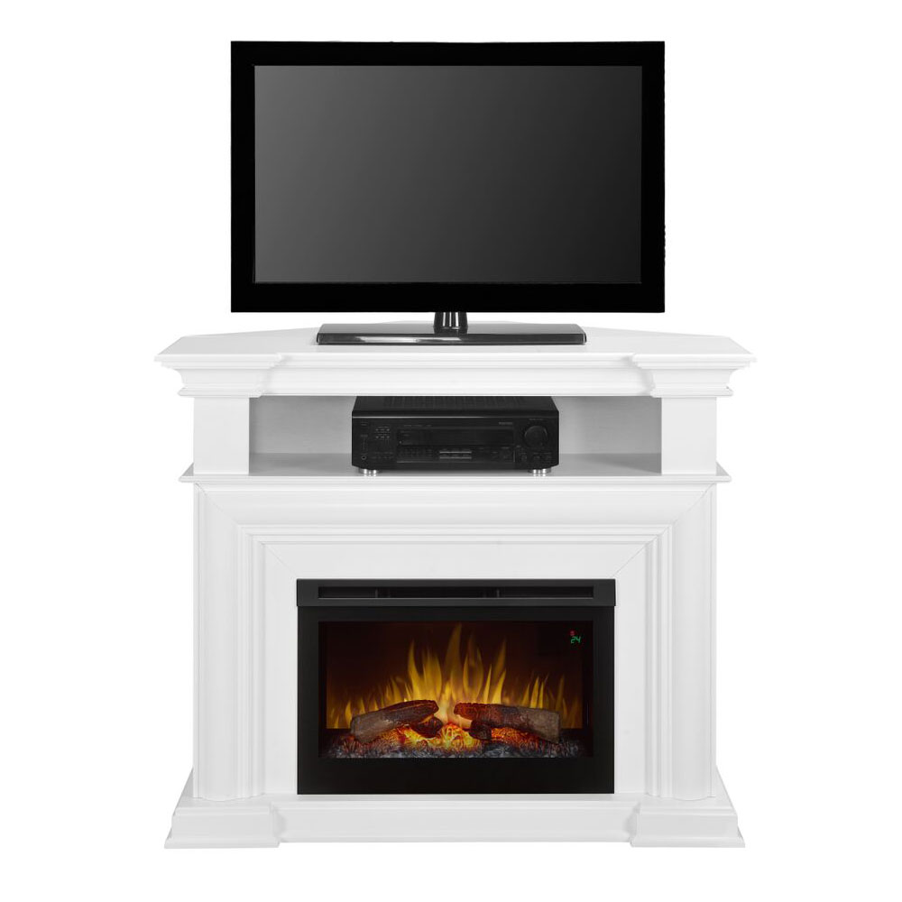 Colleen wall or Corner Electric Fireplace Media Console in ...