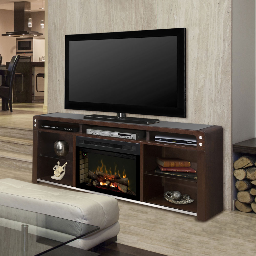 Galloway Electric Fireplace Media Console W Logs In Java