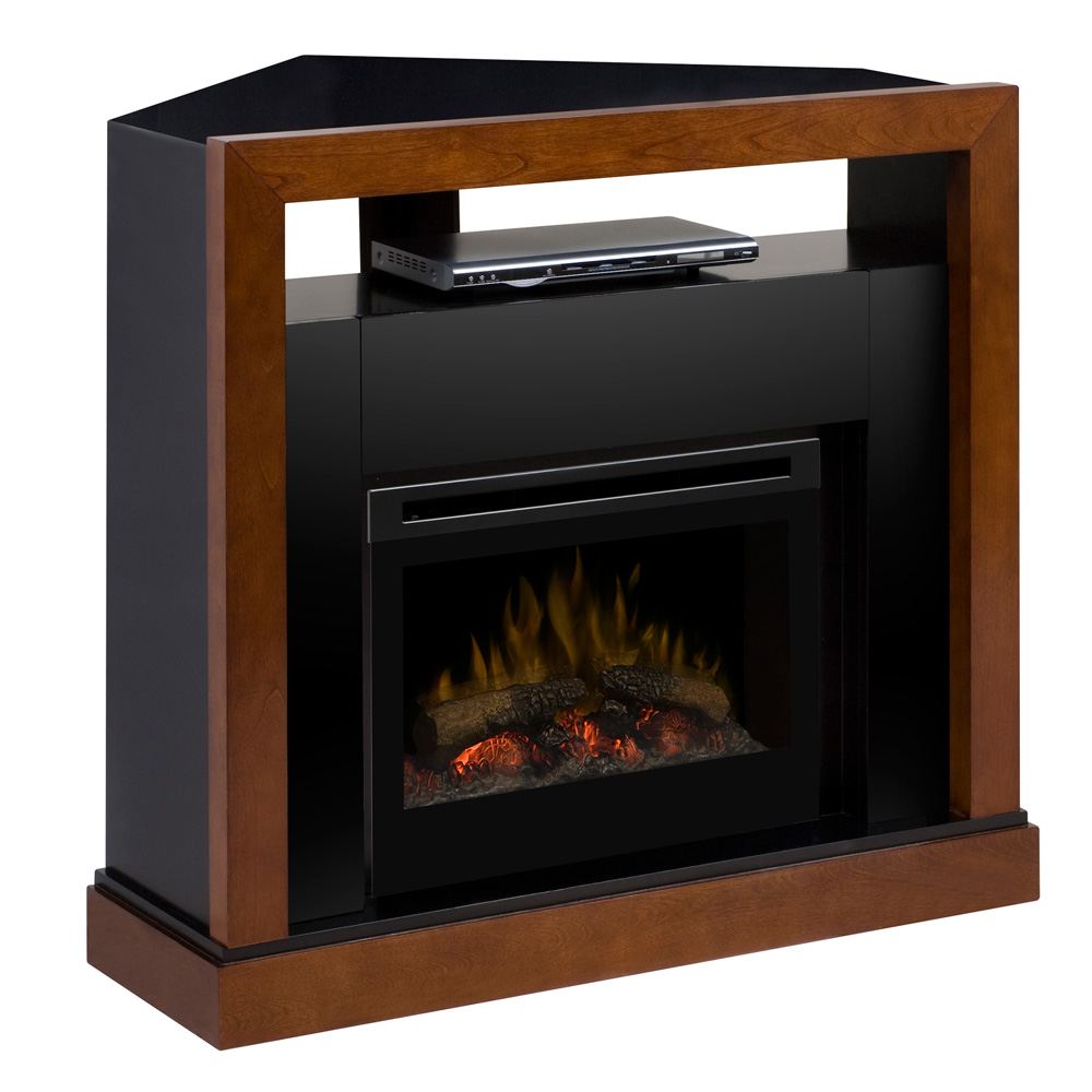 tanner electric fireplace media center w logs gds25 5309wn