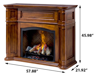 Dimplex Thompson Burnished Walnut Electric Fireplace Cabinet Mantel Gds29 1262bw