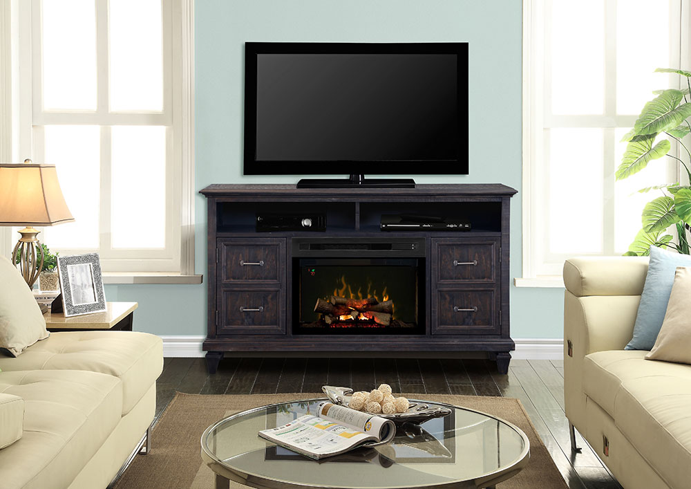 Solomon Weathered Grey Electric Fireplace Logs Gds25ld