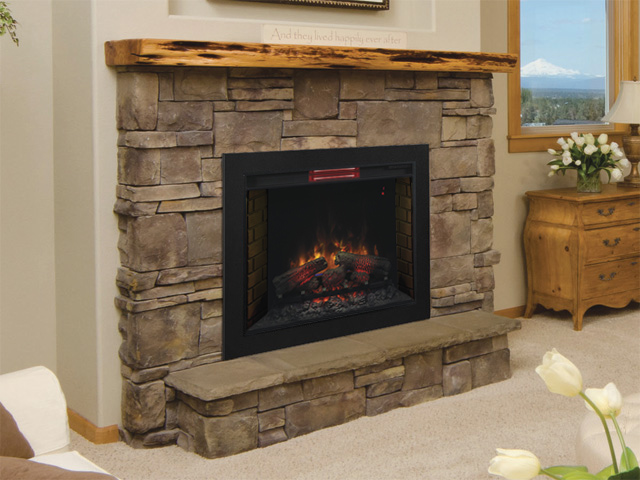 ClassicFlame 33 In Infrared Fireplace Insert & Flush Mount