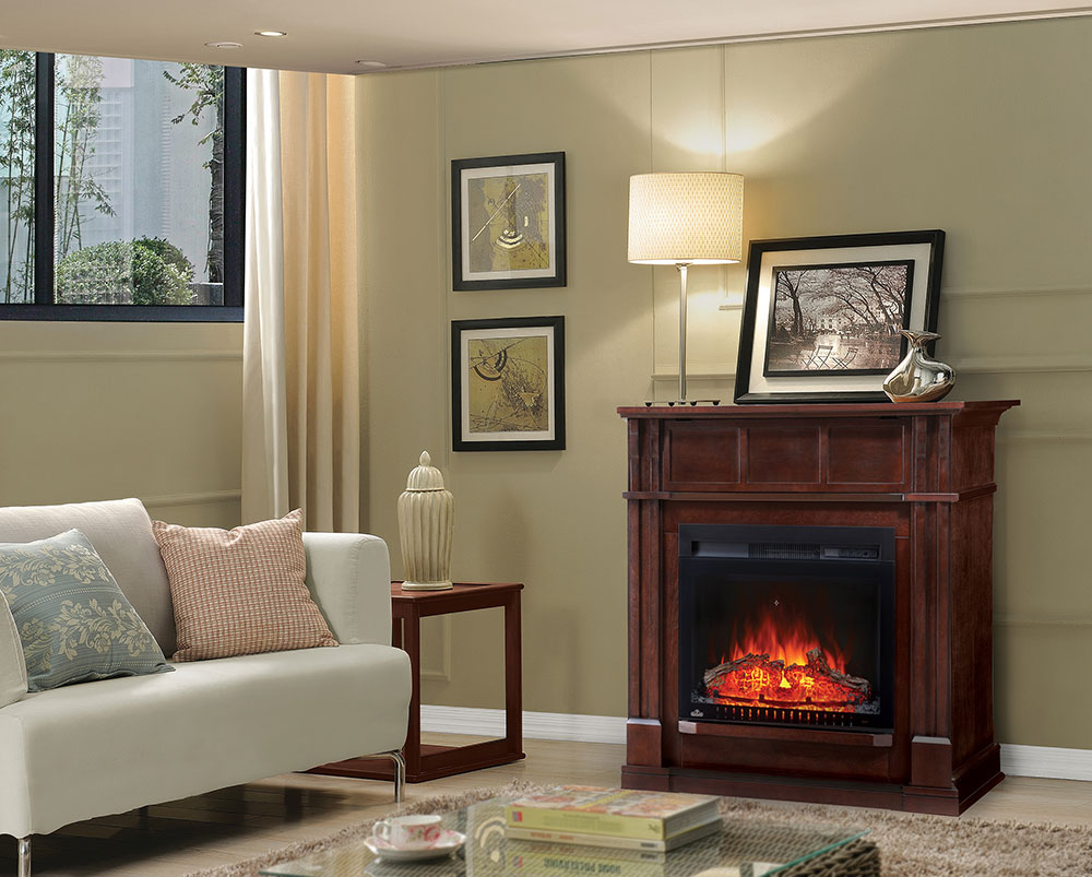 bailey electric fireplace mantel package in espresso nefp24 0115e