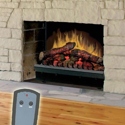 Dimplex 23 Inch Deluxe Electric Fireplace Insert Log Set