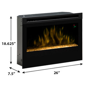 Dimplex 25 In Contemporary Plug In Electric Fireplace Insert Df2524g