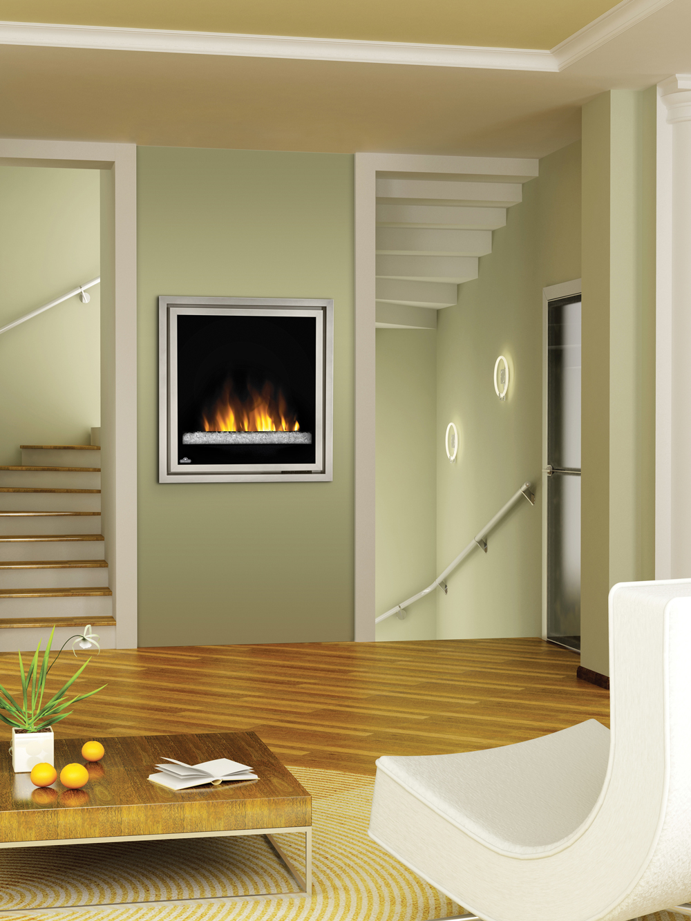 Napoleon 30 in plug in electric fireplace insert w glass for Floor and decor california
