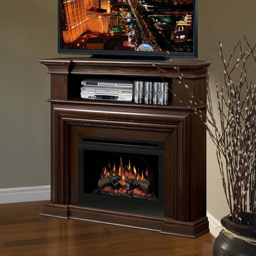 dimplex nutmeg corner tv electric fireplace heater ebay. Black Bedroom Furniture Sets. Home Design Ideas