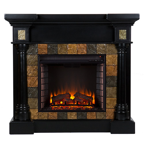 Weatherford Convertible Black Electric Fireplace 37 251