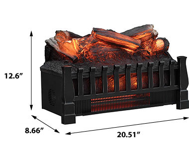 Duraflame 20 infrared electric fireplace log set w for Electric fireplace motor noise