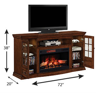Seagate 32 in Electric Fireplace Entertainment Center in Premium Pecan