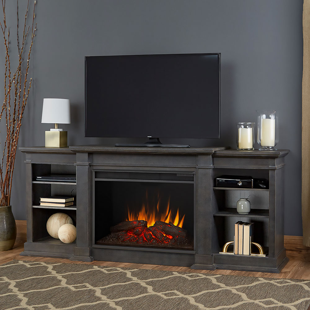 Real Flame Eliot Grand Grey Infrared Electric Fireplace 1290e