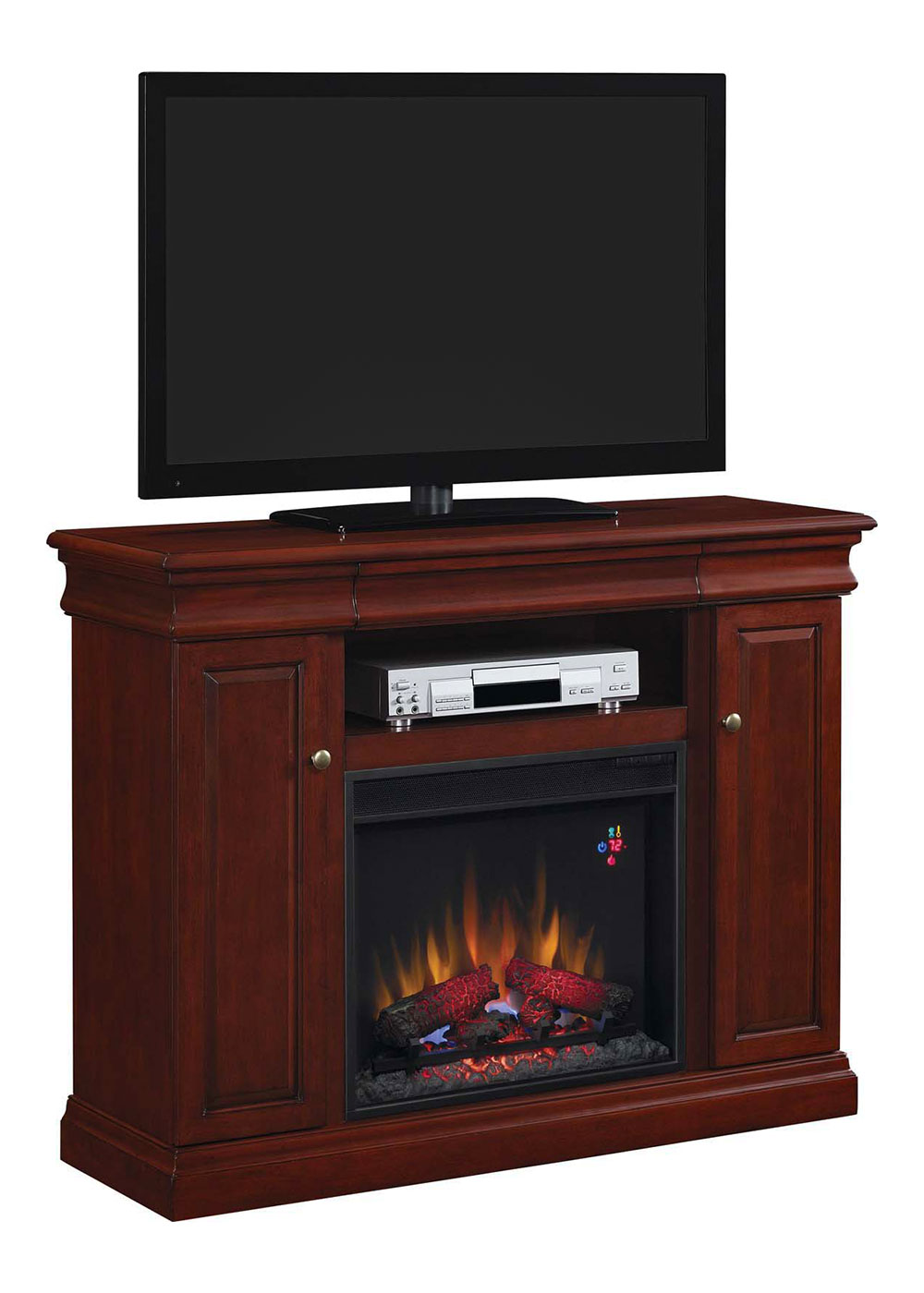 Louie Electric Fireplace Media Console In Cherry 23mm9643 X331