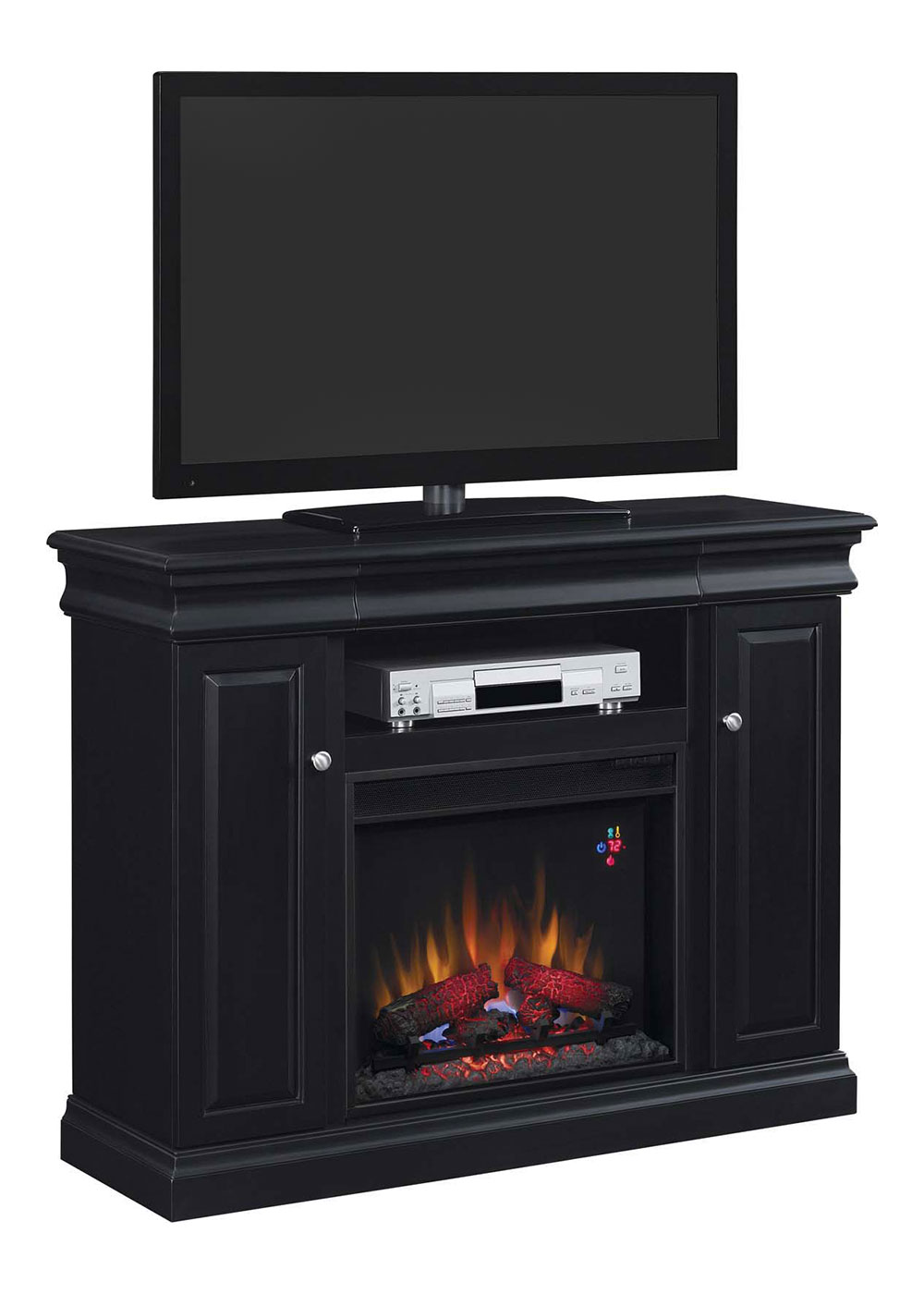Louie Electric Fireplace Media Console In Black 23mm9643