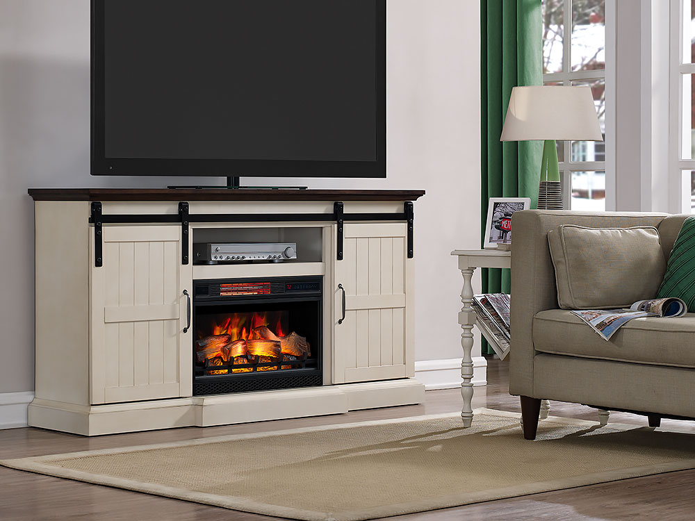 Weathered Electric Fireplace
