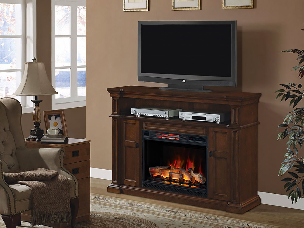 Wyatt Infrared Electric Fireplace Media Console - 28MM4684-M313