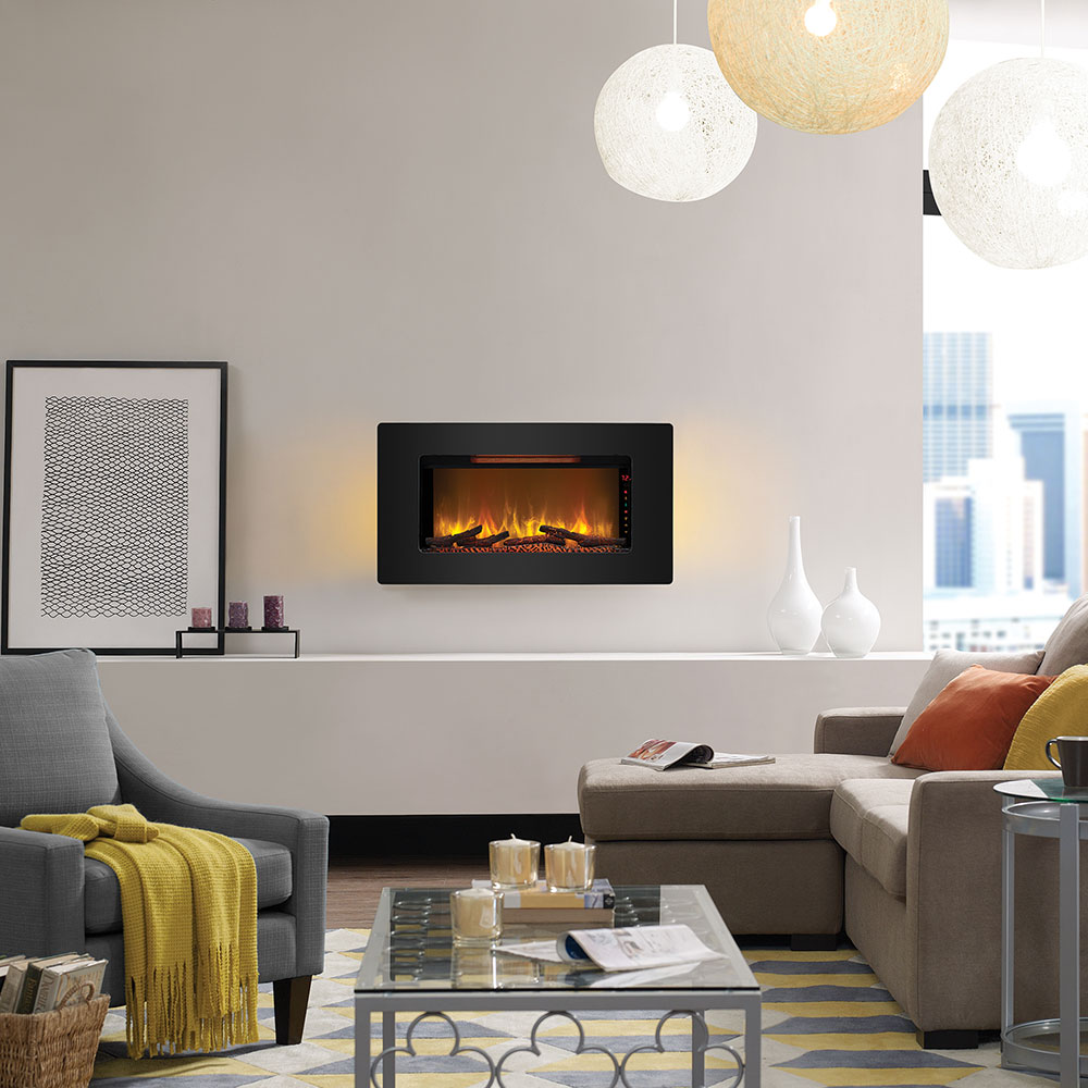 ca amazon fire sense dp mounted fireplace electric kitchen wall black home