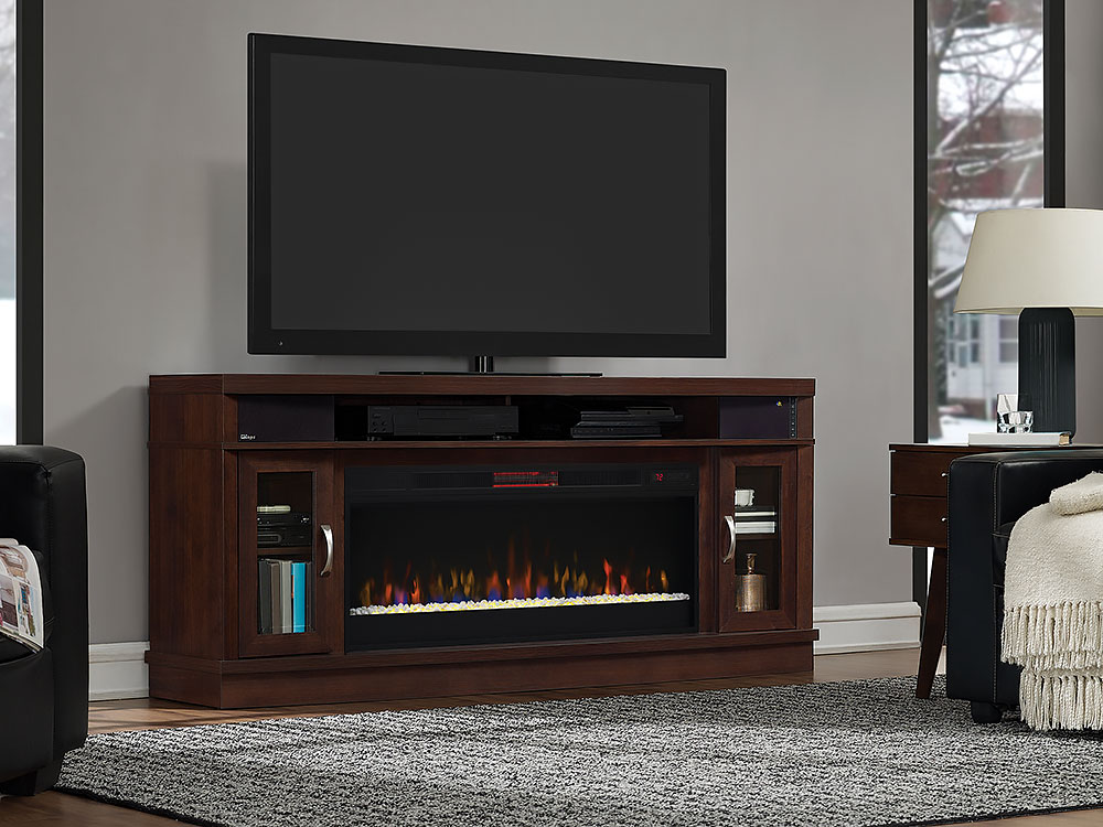 Deerfield Electric Fireplace Entertainment Center In