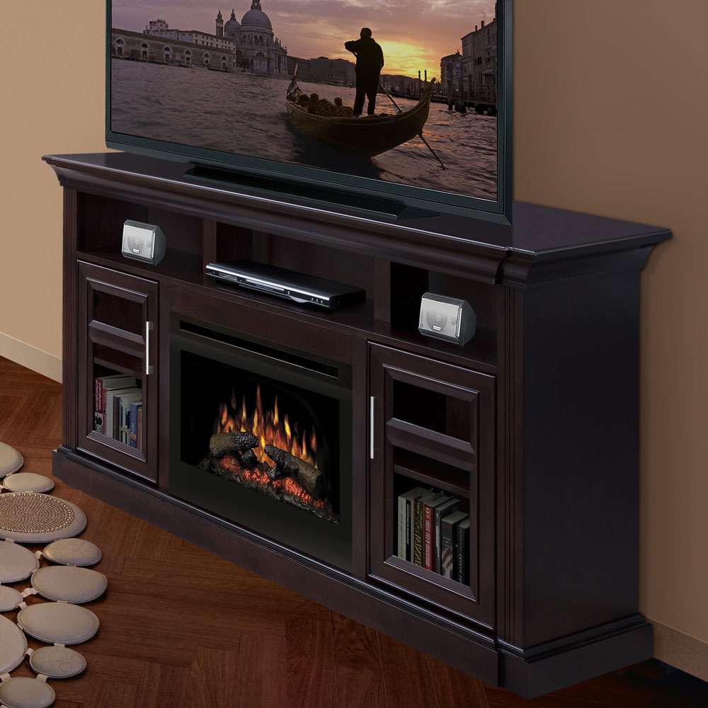 Dimplex Bailey Espresso Electric Fireplace Media Console