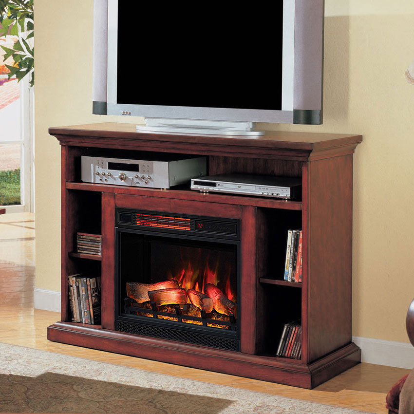"Beverly 23"" Premium Cherry Media Console Electric"