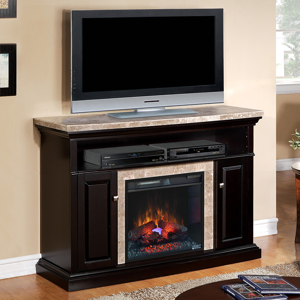 Brighton Electric Fireplace Media Console In Coffee Black 23mm1424 X445