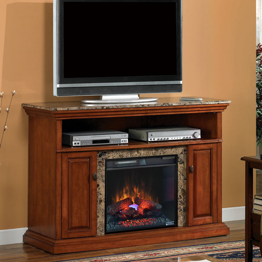 Brighton 23 Golden Honey Media Console Electric Fireplace Cabinet Mantel Package 23mm1424 W276