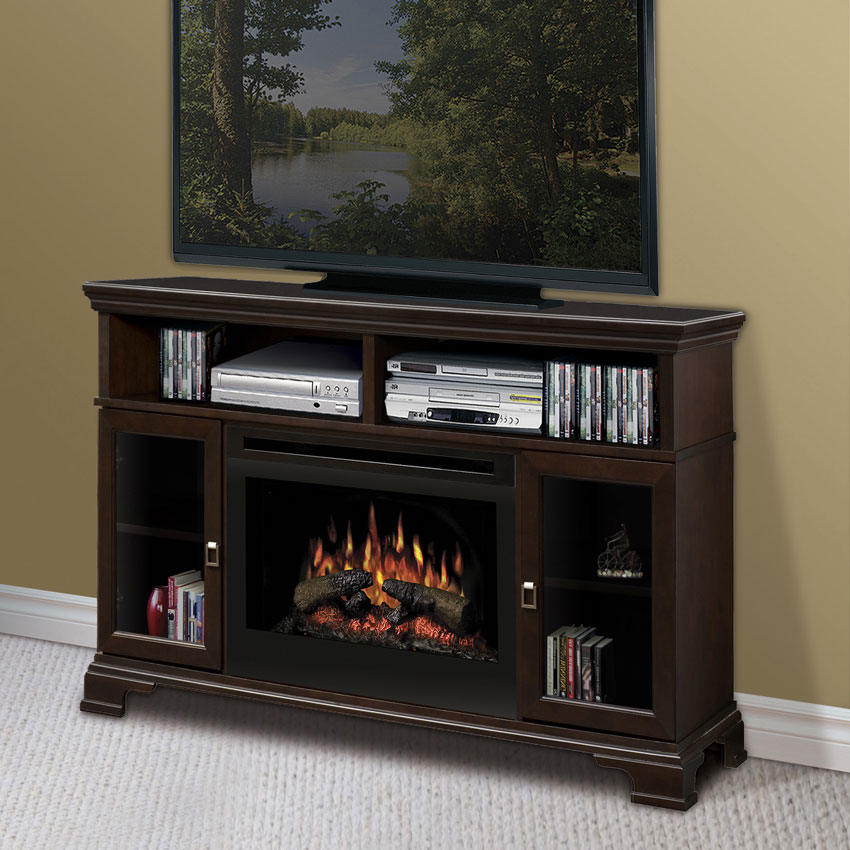 brookings espresso electric fireplace tv media console ebay