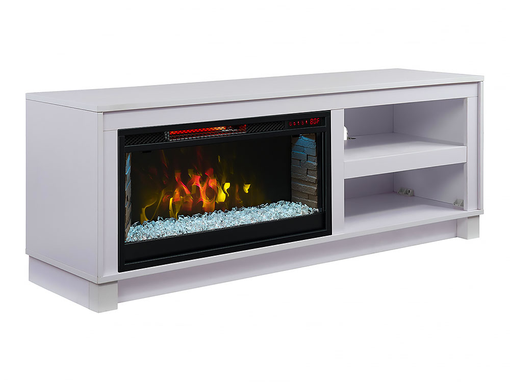 Cameron White Electric Fireplace Tv Media Console Package