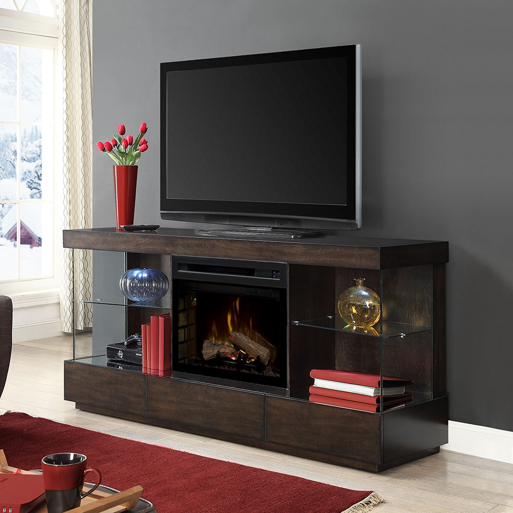 Camilla Electric Fireplace Entertainment Center In Mink