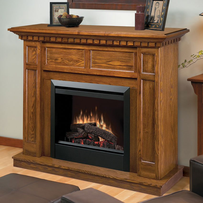 Caprice Oak Electric Fireplace Mantel Package Dfp4743o