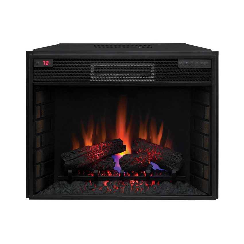 classicflame 28in infrared electric fireplace insert