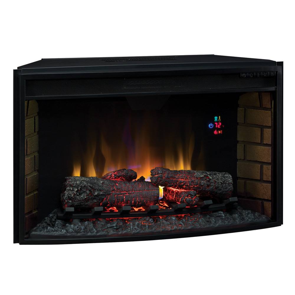 Classicflame 32 In Spectrafire Curved Electric Fireplace