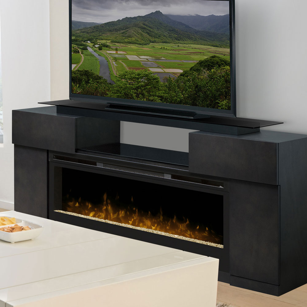 media fireplace elm console acrylic main ice dimplex sylvane natalie brown