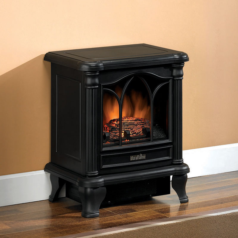 Black Electric Stove ~ Duraflame black electric fireplace stove dfs