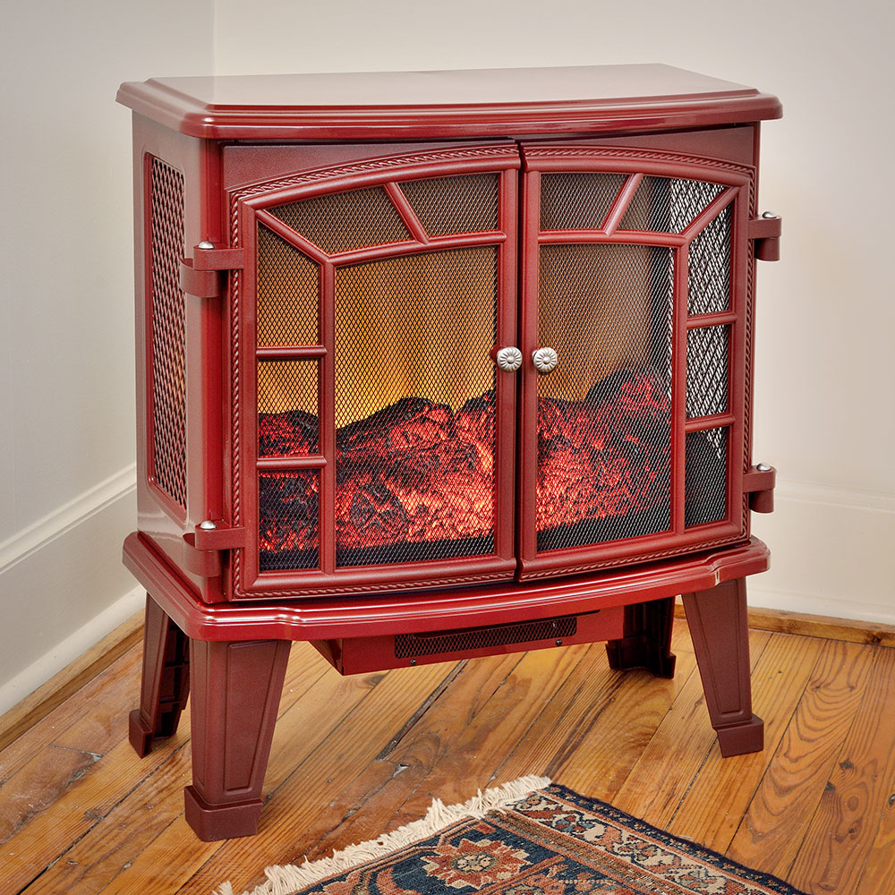 Duraflame 950 Cranberry Electric Fireplace Stove With